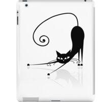 Funny black cat design iPad Case/Skin
