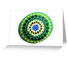 Painted Mandala Pebble | Hand Painted Pebble Greeting Card