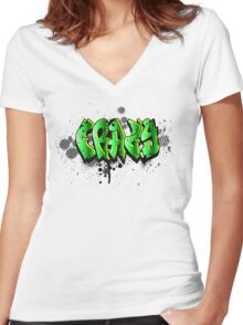Just a crazy tag Women's Fitted V-Neck T-Shirt