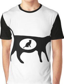 Elegant cat icon art Graphic T-Shirt