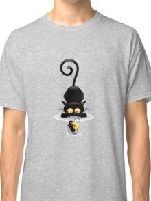 Amusing black cat Classic T-Shirt