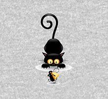 Amusing black cat Unisex T-Shirt