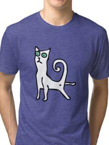Stretching cat Tri-blend T-Shirt