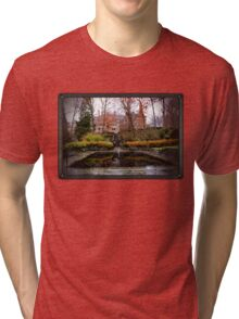 Winterthur Estate with Reflecting Pool Tri-blend T-Shirt