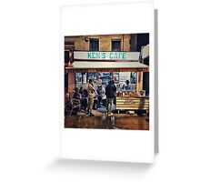 Ken's Cafe (famous West Ham eaterie) Greeting Card
