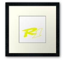 YAMAHA R1 Framed Print