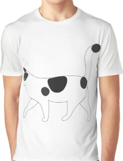 White cat walking clip art Graphic T-Shirt