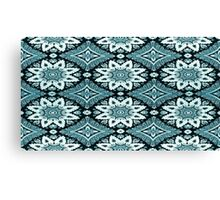 Black and Blue Lace Canvas Print