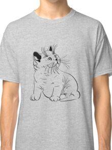 Cat pencil drawing Classic T-Shirt