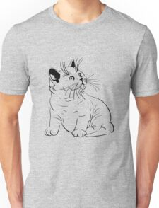Cat pencil drawing Unisex T-Shirt