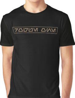 Rogue One in Aurebesh Graphic T-Shirt
