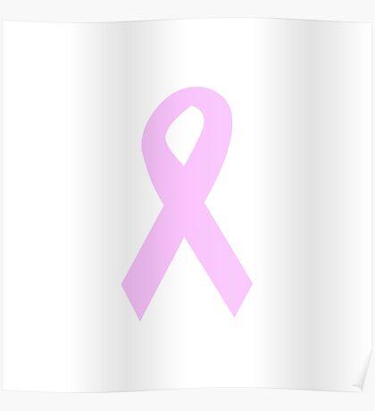 Light Pink Ribbon Poster