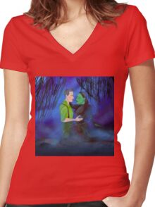 Borrow The Moonlight Women's Fitted V-Neck T-Shirt