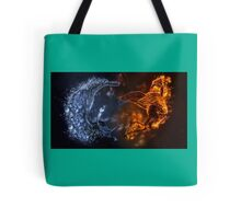 A cool fire and ice design Tote Bag