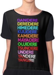 Dere Types Anime Manga Shirt Chiffon Top