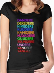 Dere Types Anime Manga Shirt Women's Fitted Scoop T-Shirt
