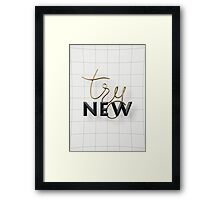 Try New Framed Print