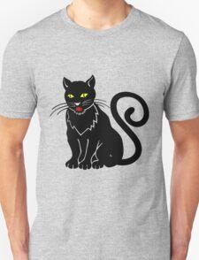 Black cat blue eyeBlack cat T-Shirt