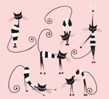 Amusing cats design set Baby Tee