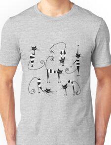 Amusing cats design set Unisex T-Shirt