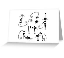 Amusing cats design set Greeting Card