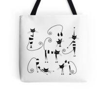 Amusing cats design set Tote Bag