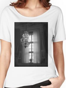 Crystal Chandelier & Window Women's Relaxed Fit T-Shirt