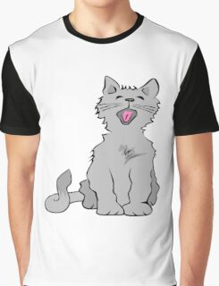 Kitten yawning Graphic T-Shirt