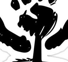 Feminist symbol in the rough Sticker