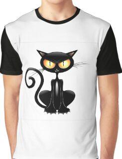 Amusing black cat Graphic T-Shirt