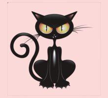 Amusing black cat Kids Tee