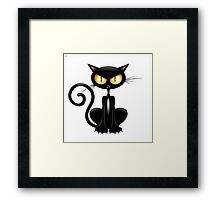 Amusing black cat Framed Print