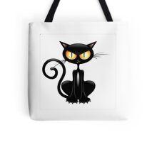 Amusing black cat Tote Bag