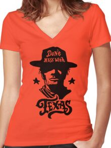 Dont Mess With Texas Women's Fitted V-Neck T-Shirt