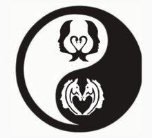 YinYang swan face to horse face Kids Tee