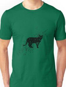 Black cat cartoon art Unisex T-Shirt