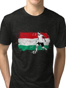 Soccer - Fußball - Hungary Flag Tri-blend T-Shirt
