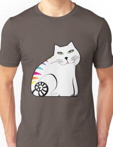 Colorful white cat Unisex T-Shirt