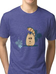 Cartoon cat background Tri-blend T-Shirt