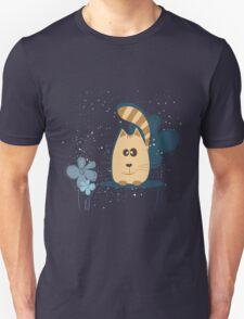 Cartoon cat background Unisex T-Shirt