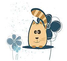 Cartoon cat background Photographic Print
