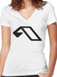 Anjunabeats Women's Fitted V-Neck T-Shirt