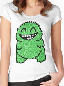 Fuzzy Bud Green Women's Fitted Scoop T-Shirt