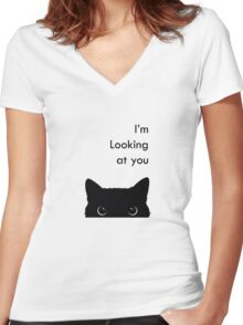 I'm Looking at you Women's Fitted V-Neck T-Shirt