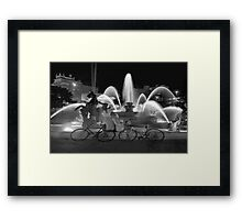 Sweethearts at the J.C. Nichols Fountain, Kansas City Framed Print