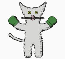 Kitten with mittens clip art Kids Tee