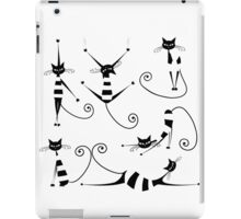 Amusing black cat design iPad Case/Skin
