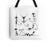 Amusing black cat design Tote Bag