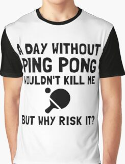 Risk It Ping Pong Graphic T-Shirt