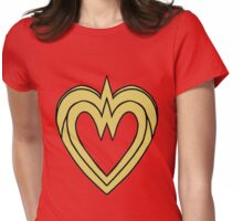 Heart of a Warrior  Womens Fitted T-Shirt